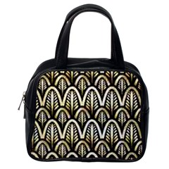 Art Deco Gold Black Shell Pattern Classic Handbags (one Side) by 8fugoso