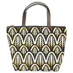 Art Deco Gold Black Shell Pattern Bucket Bags by 8fugoso
