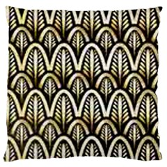 Art Deco Gold Black Shell Pattern Large Cushion Case (one Side) by 8fugoso