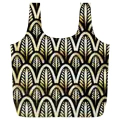 Art Deco Gold Black Shell Pattern Full Print Recycle Bags (l)  by 8fugoso