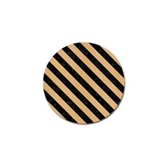 Stripes3 Black Marble & Natural White Birch Wood (r) Golf Ball Marker (10 Pack)
