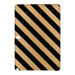 Stripes3 Black Marble & Natural White Birch Wood (r) Samsung Galaxy Tab Pro 12 2 Hardshell Case by trendistuff