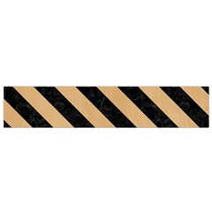 Stripes3 Black Marble & Natural White Birch Wood (r) Flano Scarf (small) by trendistuff