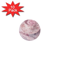 Shabby Chic High Tea 1  Mini Buttons (10 Pack)  by 8fugoso