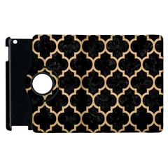Tile1 Black Marble & Natural White Birch Wood Apple Ipad 2 Flip 360 Case by trendistuff
