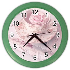 Shabby Chic High Tea Color Wall Clocks by 8fugoso
