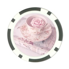 Shabby Chic High Tea Poker Chip Card Guard by 8fugoso