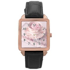 Shabby Chic High Tea Rose Gold Leather Watch  by 8fugoso