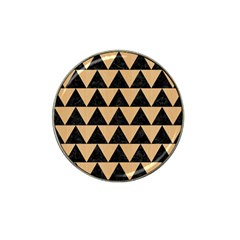 Triangle2 Black Marble & Natural White Birch Wood Hat Clip Ball Marker by trendistuff