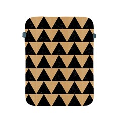 Triangle2 Black Marble & Natural White Birch Wood Apple Ipad 2/3/4 Protective Soft Cases by trendistuff