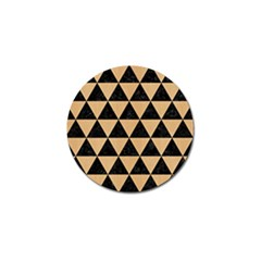Triangle3 Black Marble & Natural White Birch Wood Golf Ball Marker (10 Pack)