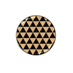 Triangle3 Black Marble & Natural White Birch Wood Hat Clip Ball Marker (4 Pack) by trendistuff