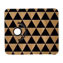 Triangle3 Black Marble & Natural White Birch Wood Galaxy S3 (flip/folio) by trendistuff