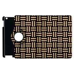 Woven1 Black Marble & Natural White Birch Wood Apple Ipad 3/4 Flip 360 Case by trendistuff