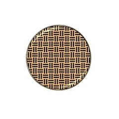 Woven1 Black Marble & Natural White Birch Wood (r) Hat Clip Ball Marker by trendistuff