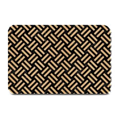 Woven2 Black Marble & Natural White Birch Wood Plate Mats by trendistuff