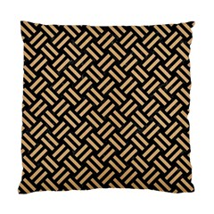 Woven2 Black Marble & Natural White Birch Wood Standard Cushion Case (two Sides) by trendistuff
