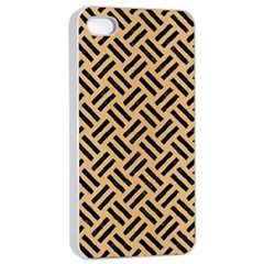 Woven2 Black Marble & Natural White Birch Wood (r) Apple Iphone 4/4s Seamless Case (white) by trendistuff