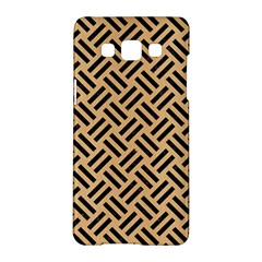 Woven2 Black Marble & Natural White Birch Wood (r) Samsung Galaxy A5 Hardshell Case  by trendistuff