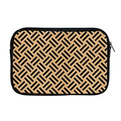 Woven2 Black Marble & Natural White Birch Wood (r) Apple Macbook Pro 17  Zipper Case by trendistuff