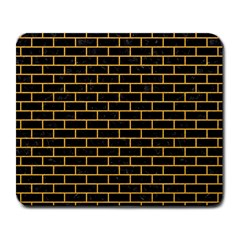 Brick1 Black Marble & Orange Colored Pencil Large Mousepads by trendistuff