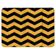 Chevron3 Black Marble & Orange Colored Pencil Samsung Galaxy Tab 7  P1000 Flip Case by trendistuff