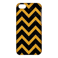 Chevron9 Black Marble & Orange Colored Pencil Apple Iphone 5c Hardshell Case by trendistuff