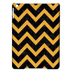 Chevron9 Black Marble & Orange Colored Pencil Ipad Air Hardshell Cases by trendistuff