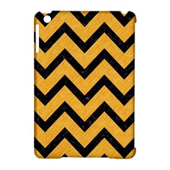 Chevron9 Black Marble & Orange Colored Pencil (r) Apple Ipad Mini Hardshell Case (compatible With Smart Cover) by trendistuff