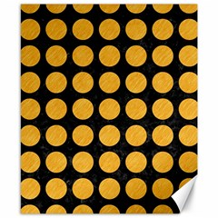 Circles1 Black Marble & Orange Colored Pencil Canvas 8  X 10  by trendistuff
