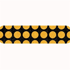 Circles1 Black Marble & Orange Colored Pencil Large Bar Mats by trendistuff
