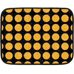 Circles1 Black Marble & Orange Colored Pencil Double Sided Fleece Blanket (mini)  by trendistuff