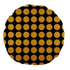 Circles1 Black Marble & Orange Colored Pencil Large 18  Premium Flano Round Cushions by trendistuff