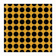 Circles1 Black Marble & Orange Colored Pencil (r) Medium Glasses Cloth (2 Side) by trendistuff