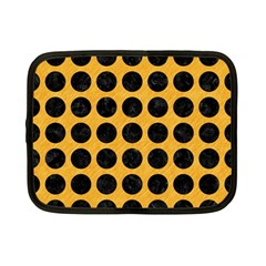 Circles1 Black Marble & Orange Colored Pencil (r) Netbook Case (small)  by trendistuff