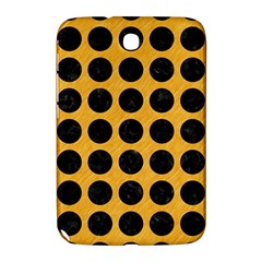 Circles1 Black Marble & Orange Colored Pencil (r) Samsung Galaxy Note 8 0 N5100 Hardshell Case  by trendistuff