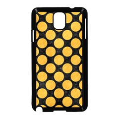 Circles2 Black Marble & Orange Colored Pencil Samsung Galaxy Note 3 Neo Hardshell Case (black) by trendistuff