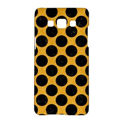 Circles2 Black Marble & Orange Colored Pencil (r) Samsung Galaxy A5 Hardshell Case  by trendistuff