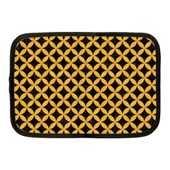 Circles3 Black Marble & Orange Colored Pencil Netbook Case (medium)  by trendistuff