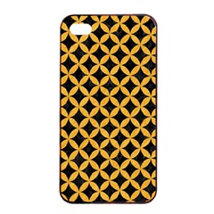 Circles3 Black Marble & Orange Colored Pencil Apple Iphone 4/4s Seamless Case (black) by trendistuff