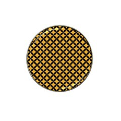 Circles3 Black Marble & Orange Colored Pencil (r) Hat Clip Ball Marker by trendistuff