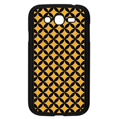 Circles3 Black Marble & Orange Colored Pencil (r) Samsung Galaxy Grand Duos I9082 Case (black) by trendistuff