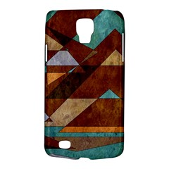Turquoise And Bronze Triangle Design With Copper Galaxy S4 Active by digitaldivadesigns