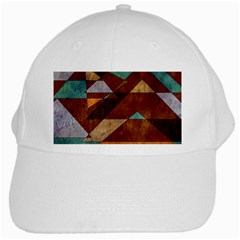 Turquoise And Bronze Triangle Design With Copper White Cap