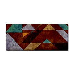 Turquoise And Bronze Triangle Design With Copper Cosmetic Storage Cases by digitaldivadesigns