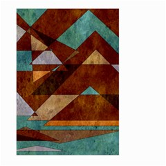 Turquoise And Bronze Triangle Design With Copper Large Garden Flag (two Sides)