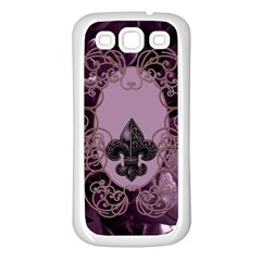 Soft Violett Floral Design Samsung Galaxy S3 Back Case (white) by FantasyWorld7