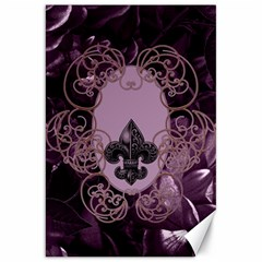Soft Violett Floral Design Canvas 20  X 30   by FantasyWorld7