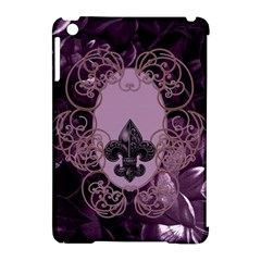Soft Violett Floral Design Apple Ipad Mini Hardshell Case (compatible With Smart Cover) by FantasyWorld7