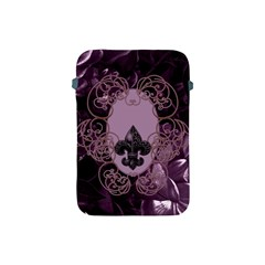 Soft Violett Floral Design Apple Ipad Mini Protective Soft Cases by FantasyWorld7